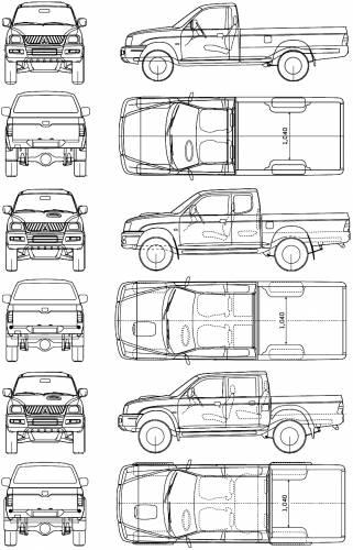 Blueprints > Cars > Mitsubishi > Mitsubishi L200 Magnum (2006)