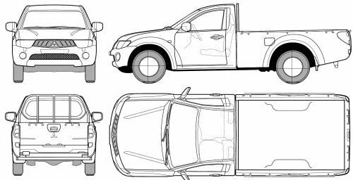Blueprints > Cars > Mitsubishi > Mitsubishi L200 Regular