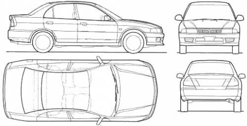 Blueprints > Cars > Mitsubishi > Mitsubishi Lancer (1998)
