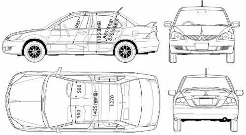 Blueprints > Cars > Mitsubishi > Mitsubishi Lancer (2006)