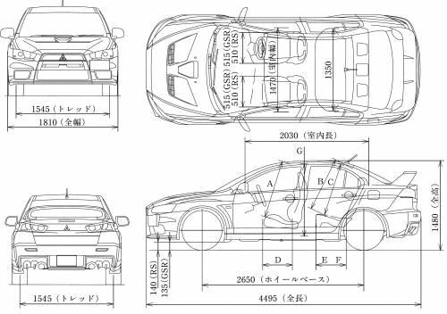 Blueprints > Cars > Mitsubishi > Mitsubishi Lancer Evolution X