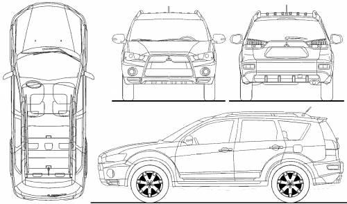 Blueprints > Cars > Mitsubishi > Mitsubishi Outlander (2010)