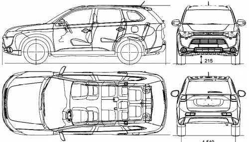 Blueprints > Cars > Mitsubishi > Mitsubishi Outlander (2013)