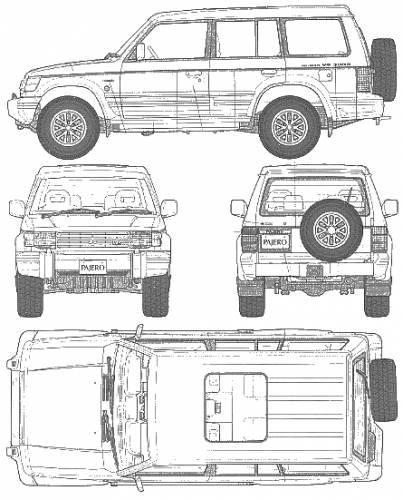 Blueprints > Cars > Mitsubishi > Mitsubishi Pajero