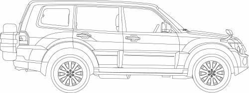 Blueprints > Cars > Mitsubishi > Mitsubishi Pajero LWB (2007)