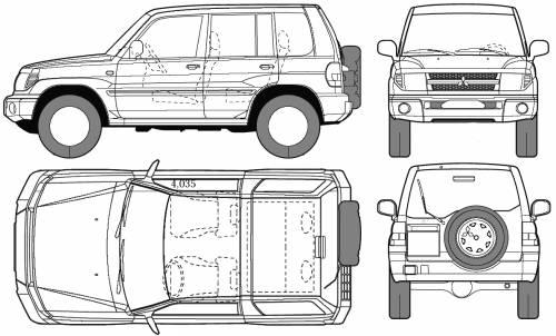 Blueprints > Cars > Mitsubishi > Mitsubishi Pajero Pinin