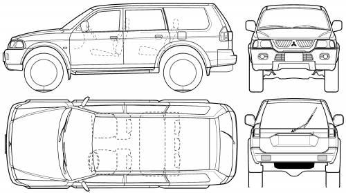 Blueprints > Cars > Mitsubishi > Mitsubishi Pajero Sport