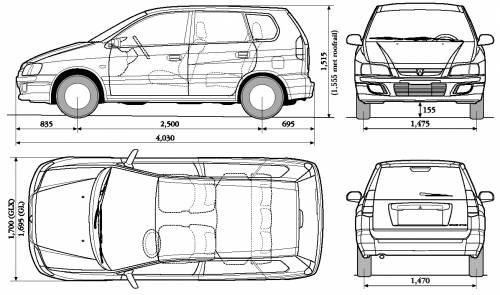 Blueprints > Cars > Mitsubishi > Mitsubishi Spacestar