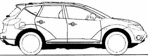 Blueprints > Cars > Nissan > Nissan Murano (2009)