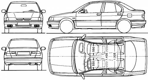 Nissan primera dimensions