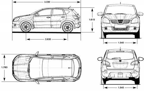 Vehculos Crossover: Nissan qashqai dimensiones