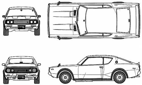 Blueprints > Cars > Nissan > Nissan Skyline GT-R KPGC110