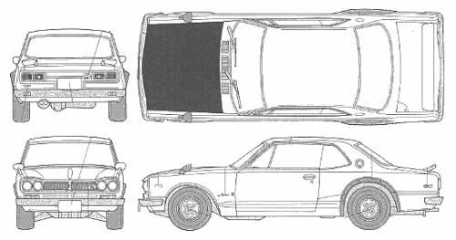 Blueprints > Cars > Nissan > Nissan Skyline GT-R KPGS10