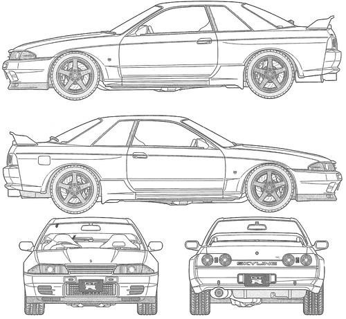 Blueprints > Cars > Nissan > Nissan Skyline GT-R R32