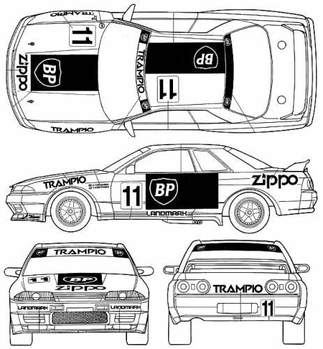 Blueprints > Cars > Nissan > Nissan Skyline GT-R R32 Group