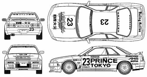 Nissan skyline r35 blueprint