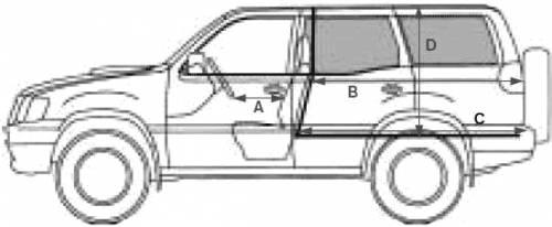 Blueprints > Cars > Nissan > Nissan Terrano II R20 LWB (2004)