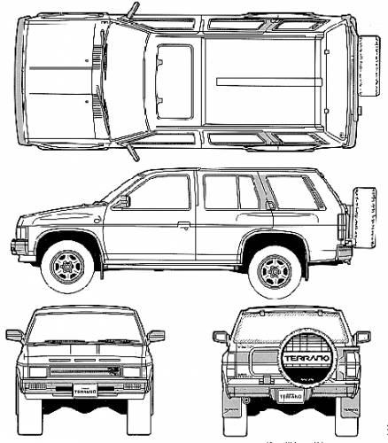 Blueprints > Cars > Nissan > Nissan Terrano Pathfinder R3M