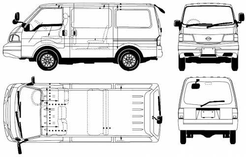 Dimension garage: nissan cargo vanette
