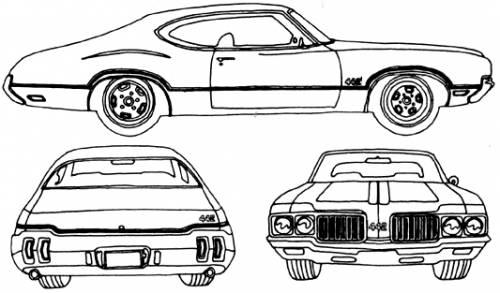 Blueprints > Cars > Oldsmobile > Oldsmobile Cutlass 442 (1970)
