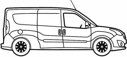 Blueprints > Cars > Opel > Opel Combo Van LWB (2012)