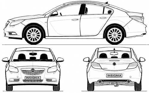 Blueprints > Cars > Opel > Opel Insignia (2009)