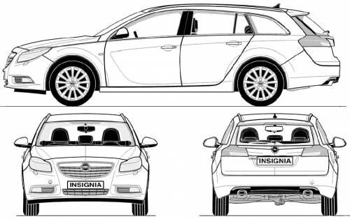 Blueprints > Cars > Opel > Opel Insignia Sport Tourer (2009)