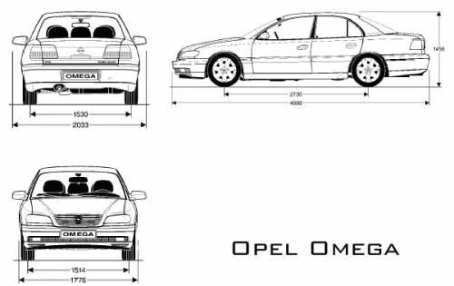 Blueprints > Cars > Opel > Opel Omega Sedan (2002)
