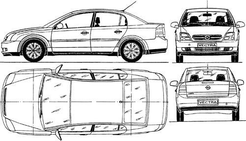 Blueprints > Cars > Opel > Opel Vectra 4-Door (2002)