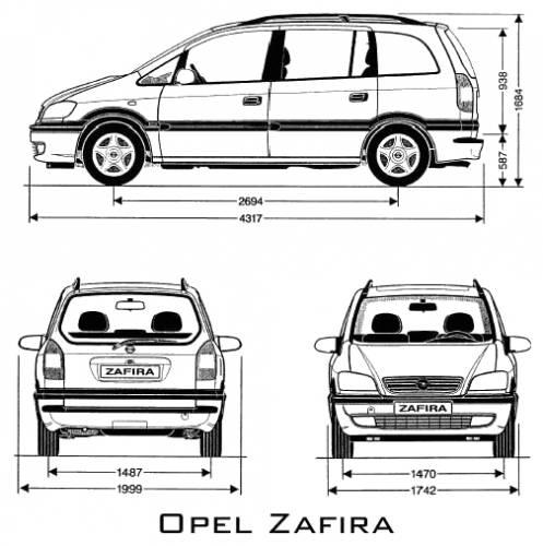 Blueprints > Cars > Opel > Opel Zafira