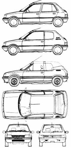 Blueprints > Cars > Peugeot > Peugeot 205