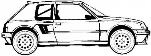 Blueprints > Cars > Peugeot > Peugeot 205 Turbo 16 (1985)