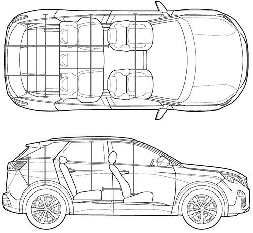 Blueprints > Cars > Peugeot > Peugeot 3008 (2017)