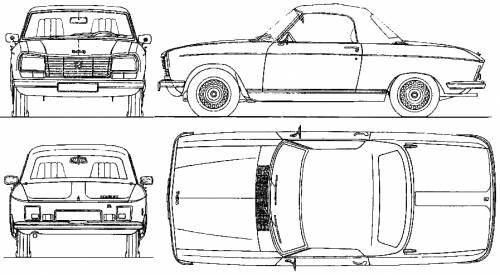 Blueprints > Cars > Peugeot > Peugeot 304 Cabriolet (1974)