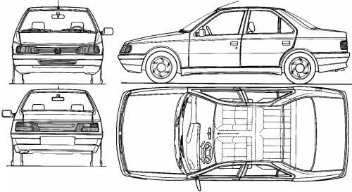 Blueprints > Cars > Peugeot > Peugeot 405 GR (1988)