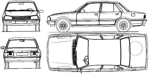 Blueprints > Cars > Peugeot > Peugeot 505 (1982)