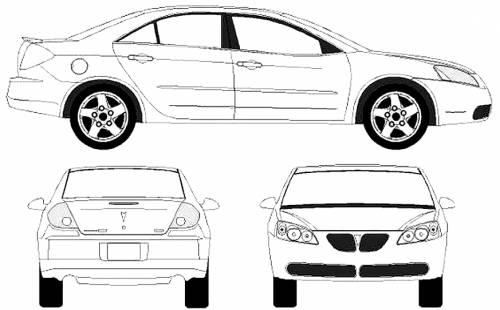 Blueprints > Cars > Pontiac > Pontiac G6 (2005)