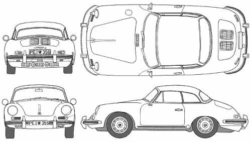 Blueprints > Cars > Porsche > Porsche 356 B