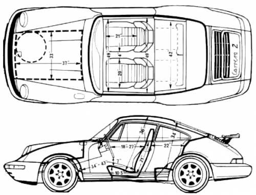 Blueprints > Cars > Porsche > Porsche 911 (964) (1989)