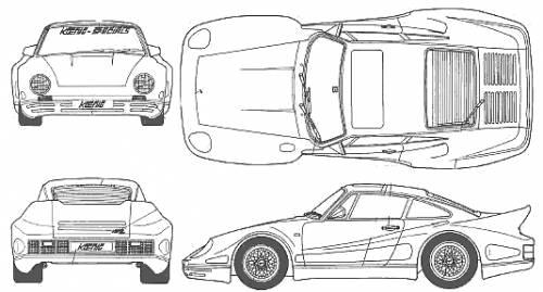 Blueprints > Cars > Porsche > Porsche 911 Biturbo Koenig