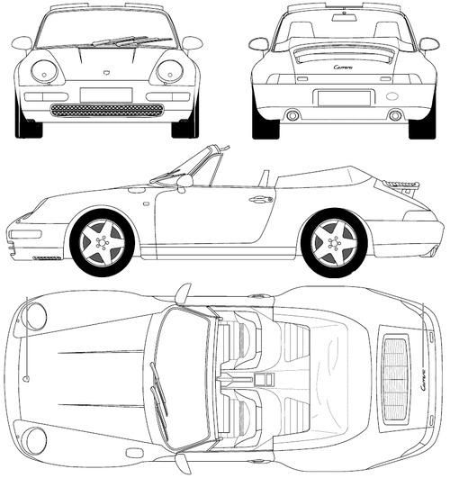 Blueprints > Cars > Porsche > Porsche 911 Carerra