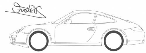 Blueprints > Cars > Porsche > Porsche 911 Carrera (997)
