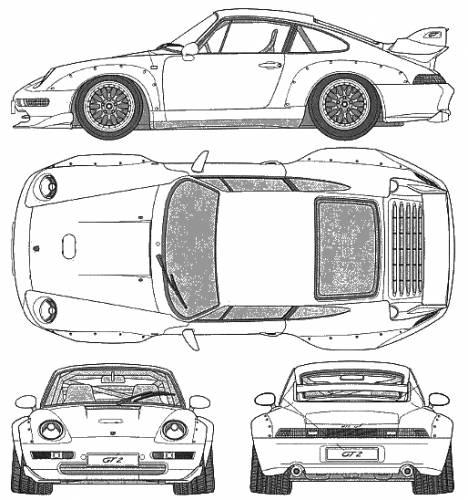 Blueprints > Cars > Porsche > Porsche 911 GT2 (993)
