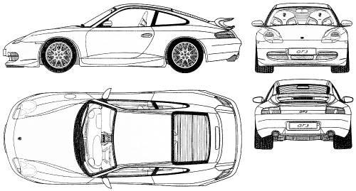 Blueprints > Cars > Porsche > Porsche 911 GT3 (996)