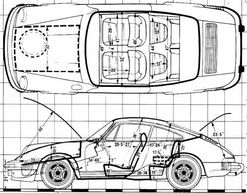 Blueprints > Cars > Porsche > Porsche 911 SC (1981)