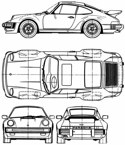 Blueprints > Cars > Porsche > Porsche 911 Turbo 3.3 (1977)
