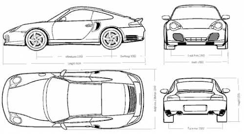Blueprints > Cars > Porsche > Porsche 911 Turbo (996)