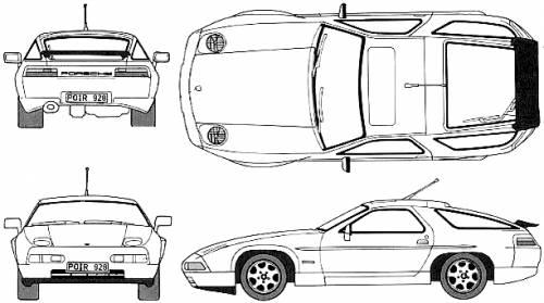 Blueprints > Cars > Porsche > Porsche 928 GT (1994)