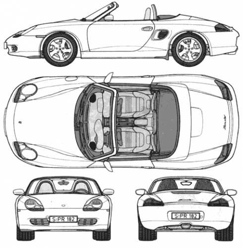 Blueprints > Cars > Porsche > Porsche Boxster (2004)