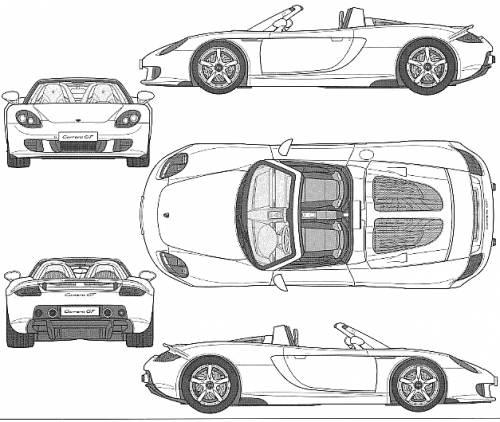 Blueprints > Cars > Porsche > Porsche Carrera GT (2003)